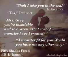 """❤Fifty Shades Freed❤️Ana and Christian on honeymoon"" Fifty Shades Quotes, Shade Quotes, Fifty Shades Darker, Fifty Shades Of Grey, 50 Shades Trilogy, Favorite Book Quotes, Favorite Things, Grey Quotes, Mr Grey"
