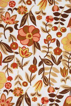 floral papegaaien print gordijnen vintage - OUR VINTAGE FABRICS ...