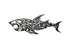tatouage polynésien idée tatouage tribal requin tatouage