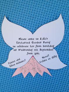 Fairy birthday party invitation
