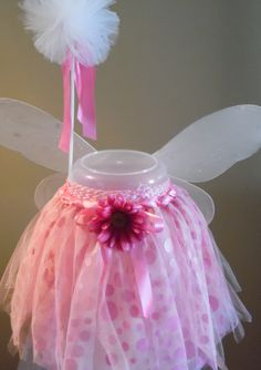 Pink fairy tutu outfit with wand