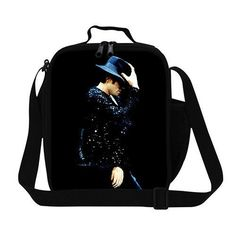 Designer Michael Jackson insulated lunch bag for young men,childrens lunch box fashion style,cool womens thermal food bag modern