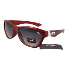 Cheap Oakley Jupiter Sunglasses polished red frames black lens | See more about oakley, sunglasses and frames.
