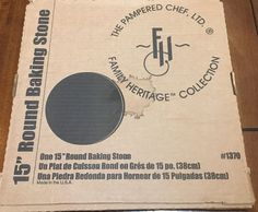 "Pampered Chef 15"" Pizza Stone #1370 #PamperedChef"