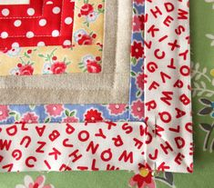 How to machine bind a quilt (with good photos of how to do the corners properly!)