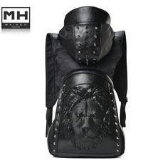 gt  gt Big Save onmen Backpack 2015 new Stylish Cool Black PU d443cd97f4