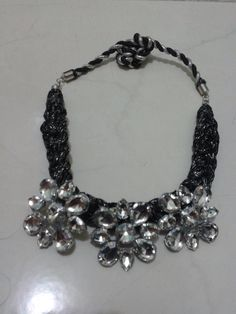 Black silver flower