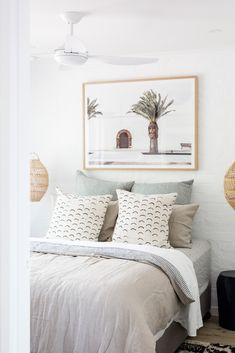 Coastal home, Sunrise Beach, Noosa, Australia. Interior Design by CLO Studios, Interior Photography by Aimee Dodge. Interior Photography, Coastal Homes, Bedroom Inspo, Decoration, Wood Art, Guest Room, Lush, Noosa Australia, Studios
