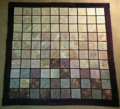 Wedding guest book quilt. $400.00, via Etsy.
