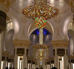 Abu Dhabi Grand Mosque. Now that's a chandelier!!