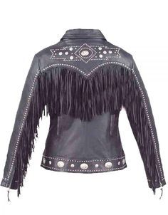 Ladies Western Style Cowhide Leather Jacket Women Biker Clothes Western Fashion Biker Outfit