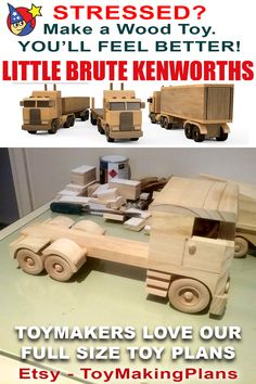 Wooden Toy Trucks, Wooden Toys, Black White Pattern, White Patterns, Wood Toys Plans, Box Van, Handmade Toys, Wood Working, Woodworking Tools