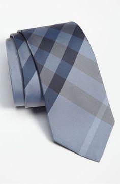 Blue Burberry Tie