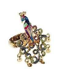 Betsey Johnson Peacock Stretch Ring