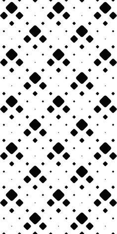 Monochrome Pattern, Black White Pattern, White Patterns, Vector Pattern, Pattern Design, Black And White Background, Square Patterns, Pattern Background, Design Bundles