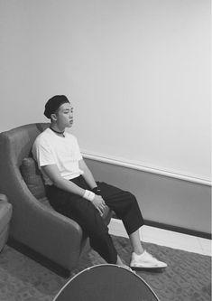 BTS Tweet - Rap Mon (selca) 150807 --마음가짐 #김데일리-- tran: Determination #KimDaily --- Trans cr; Sihyun @ bts-trans