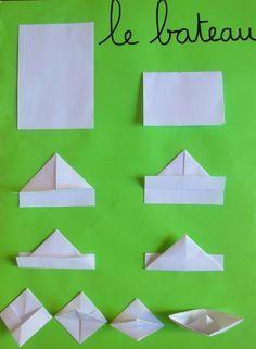 Preschool of Prigonrieux - Origami Instruções Origami, Origami Mouse, Origami Yoda, Origami Star Box, Origami Dragon, Origami Fish, Origami Folding, Paper Folding, Origami Simple
