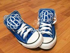Monogrammed Converse Low Top Fresh Colors, Monogrammed Wedding Day Shoes, Fresh Colors Converse, Monogrammed Converse, Personalized Converse by SewWonderfullyMade4U on Etsy https://www.etsy.com/listing/231738695/monogrammed-converse-low-top-fresh