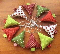 adrianagy / Vianočné ozdoby - červeno - zelené Vianoce