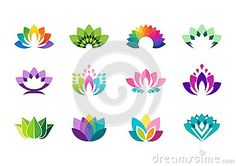 Lotus logo, lotus flowers logos, set of collection beauty flowers symbol icon vector design - http://www.dreamstime.com/stock-photography-image67033188#res7049373