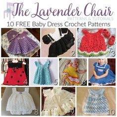 FREE Baby Dress Crochet Patterns - The Lavender Chair