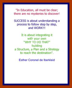 In Education all must be clear.........