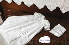 Unisex Edwardian style baptism gown http://www.bellebebe.co.uk/