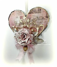 Rose Heart by Linda D - Cards and Paper Crafts at Splitcoaststampers