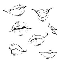 Girl's mouth drawing reference, perfect for comics. Mouth Drawing, Body Drawing, Anatomy Drawing, Figure Drawing, Drawing Faces, Smile Drawing, Sketch Mouth, Lips Sketch, Learn Drawing