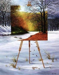 Funny pictures about Awesome Painting. Oh, and cool pics about Awesome Painting. Also, Awesome Painting photos. Surrealism Painting, Cool Paintings, Modern Paintings, Surreal Art, Conceptual Art, Optical Illusions, Graffiti Art, Belle Photo, Color Splash