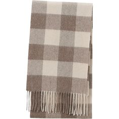 CASHMERE SCARF, BROWN, large