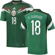 ADIDAS A. GUARDADO MEXICO AUTHENTIC HOME JERSEY FIFA WORLD CUP BRAZIL 2014.