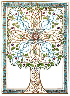 Celtic Blessing Tree poster size print.