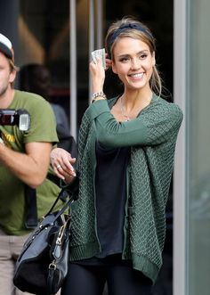 I love the navy/green color combo, and Jessica, of course.