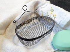 Antique Vintage Wire Mesh Hanging Soap Holder / French Country Farmhouse Decor on Etsy, $25.00