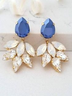 c6a0ddd571d7 Image result for square blue drop crystal earrings