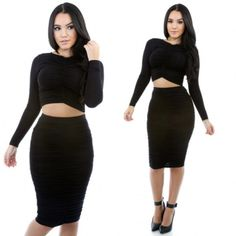 Two-piece bodycon dress