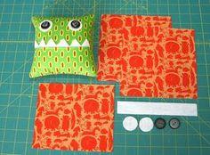 Little Monster Pillows. Could I make bean bags?