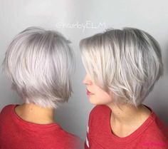 platinum-kurze-frisuren-fur-feine-haare | Bob Frisuren 2017 | Damen Kurzhaarfrisuren und Haarfarben Trends