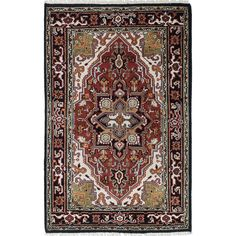 eCarpetGallery Royal Heriz / Red Hand-knotted Wool Rug