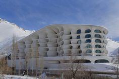 Gaudi-esque in Iran - Barin Ski Resort #dream #ski #winter #iran #mountains #architecture #design #modern