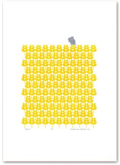 Mouse limited edition silkscreen print  buttercup by mengseldesign, $72.00