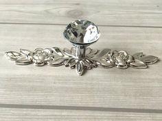 Eshowy High Class 6 x 40 mm Clear Crystal Glass Diamond Cut Poignées de porte Cuisine...