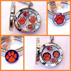 Clemson Tigers Custom Floating Charm for by ArantxasBowtique