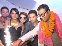 Richa Chadda, Manoj Bajpai, Huma Qureshi at GANGS OF WASSEYPUR success party.