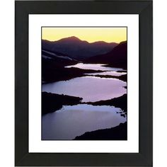 "Universal Lighting and Decor Mountain Lakes Black Frame Giclee 23 1/4""... ($130) ❤ liked on Polyvore featuring home, home decor, wall art, black, black canvas wall art, mountain home decor, black home accessories, black wall art and canvas wall art"