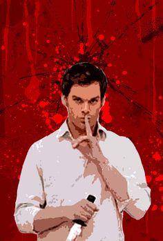 """Digitally printed Dexter pop art.   25 Pieces Of """"Dexter"""" Fan Art Worthy Of A Final Season Tribute"""