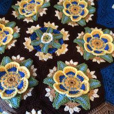 Frida's Flowers Blanket By Jane Crowfoot - Free Crochet Pattern - (ravelry)