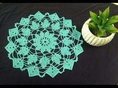 Como tejer mantel, tapete o carpeta redondo a Crochet - YouTube