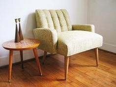 MidCentury Vintage Retro Channel Back Arm Chair